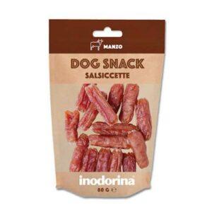 Inodorina-Dog-Snack-Salsiccette-Manzo-1-sacchetto-80-gr